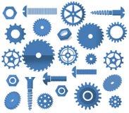 Vektormaterialsymboler (tandhjul, cirkulär s Arkivbilder