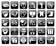 Vektormedizinische Ikonen lizenzfreie abbildung