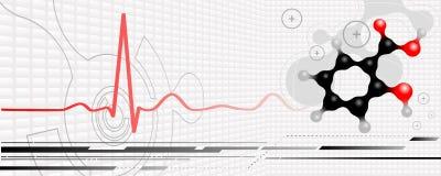 Vektormedizinischer Hintergrund Lizenzfreie Stockfotos