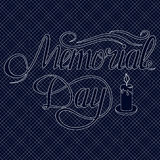 VektorMemorial Day kort med bokstäver Festlig affisch eller banerhand royaltyfri illustrationer