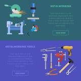 Vektormetalworkingbegrepp royaltyfri illustrationer