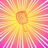 Vektormikrofon Royaltyfri Bild