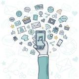 Vektormobil Apps Royaltyfri Fotografi