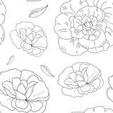 Vektormodell av blommor Arkivbild