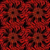 Vektormodell av kalejdoskopiska prydnader av den röda och orange linjen vektor illustrationer