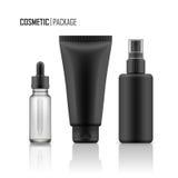 Vektormodell av kosmetiska packar Royaltyfria Bilder