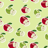Vektormodell av röda och gröna äpplen Royaltyfri Bild