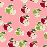 Vektormodell av röda och gröna äpplen Royaltyfri Foto