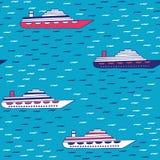 Vektormodell av snabba motorbåtar royaltyfri illustrationer