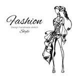 Vektormodell Fashion Royaltyfri Fotografi