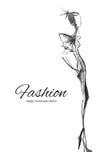 Vektormodell Fashion Arkivbild
