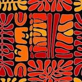 Vektormodell inklusive etnisk australisk bevekelsegrund med mångfärgade typiska beståndsdelar Royaltyfri Bild