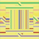 Vektormodell med fodrade fyrkanter abstrakt texturyellow Geometrisk bakgrund Royaltyfri Bild