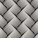 Vektormodell med geometriska vågor Ändlöst stilfullt texturerar Skvalpa monokromt upprepa för bakgrund som är linjärt i olikt for Arkivbilder