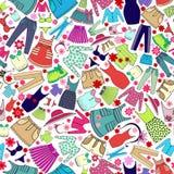 Vektormodellen med damer bär för bruk i design Arkivbild
