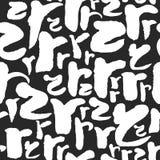 Vektormodellen med kalligrafi märker R Arkivfoton