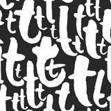Vektormodellen med kalligrafi märker T Royaltyfri Foto