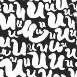 Vektormodellen med kalligrafi märker U Royaltyfria Bilder