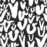 Vektormodellen med kalligrafi märker V Royaltyfri Fotografi