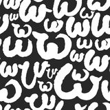 Vektormodellen med kalligrafi märker W Royaltyfria Bilder