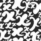 Vektormodellen med kalligrafi märker X Fotografering för Bildbyråer