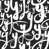 Vektormodellen med kalligrafi märker Y Arkivbild
