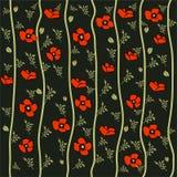 Vektormohnblumenmuster Stockfoto