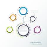 Vektormolekylstruktur med etiketten för papper 3D för infographic Royaltyfri Fotografi