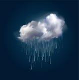 Vektormoln och regn Royaltyfri Foto