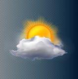 Vektormoln och sol Fotografering för Bildbyråer