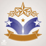 Vektormonarchsymbol Festliches grafisches Emblem mit Pentagon fünf Lizenzfreie Stockbilder