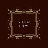 Vektormonolinie Rahmen mit Kopienraum Stockbilder