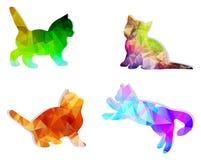 vektormosaikkatter Arkivbilder