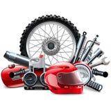 Vektormotorcykeln avvarar begrepp Royaltyfri Fotografi