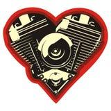 Vektormotorheart Stockbild