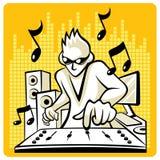 Vektormusikdiscjockey Arkivbilder