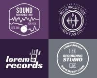 Vektormusikproduktions-Studiologos eingestellt musikalisch lizenzfreie abbildung