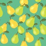 Vektormuster der gelben und grünen Birne Stockfotos