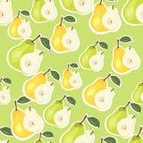 Vektormuster der gelben und grünen Birne Lizenzfreie Stockbilder