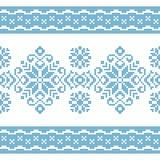 Vektormuster für das Stricken mit blauer und weißer Verzierung lizenzfreie abbildung