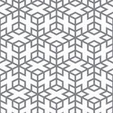 Vektormuster - geometrischer Entwurf von den grauen Linien Lizenzfreies Stockfoto