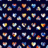 Vektormuster, Herzhintergrund der optischen Täuschung Verbreiten Sie Farbe Lizenzfreie Stockbilder