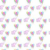 Vektormuster-Hintergrundillustration der netten Elefanten nahtlose Vektor Abbildung