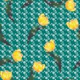 Vektormuster mit gelben Tulpen stock abbildung