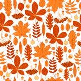 Vektormuster mit Herbstlaub stock abbildung