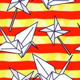 Vektormuster mit origami Abbildungen vektor abbildung