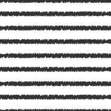 Vektormuster mit Streifen Linien - Gekritzel Lizenzfreies Stockbild