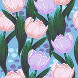 Vektormuster mit Tulpen lizenzfreie abbildung