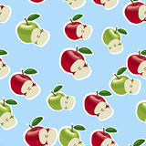Vektormuster von roten und grünen Äpfeln Lizenzfreies Stockbild
