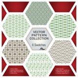 Vektormustersatz für Dekoration und Design Stockfotos